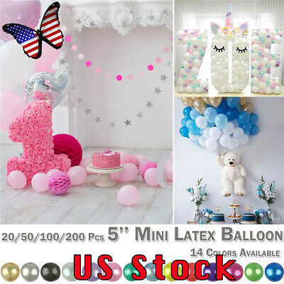 5'' Mini Latex Balloon Round Wedding Birthday Party Decoration Balloons Festival - Mini Latex Balloons