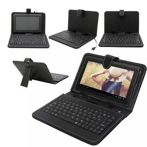New Leather Case Stand Cover Micro USB Keyboard Stylus for 7