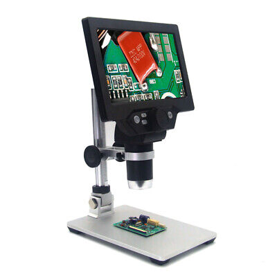 G1200 12mp 7 Hd Digital Microscope 1-1200x Continuous Zoom Magnifier With Stand