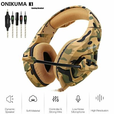 K1 Stereo Bass Surround Gaming Headset for PS4 Slim Pro New Xbox One XPC Mic