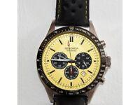 SEKONDA - Men's chronograph watch with yellow face. Model 1395.