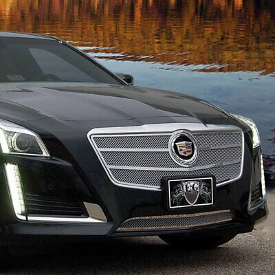 For Cadillac CTS 14 1-Pc Classic Series Chrome Fine Mesh Bumper Grille