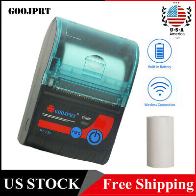Mini 58mm Thermal Receipt Label Printer Wireless Bt For Android Ios Windows A2x2