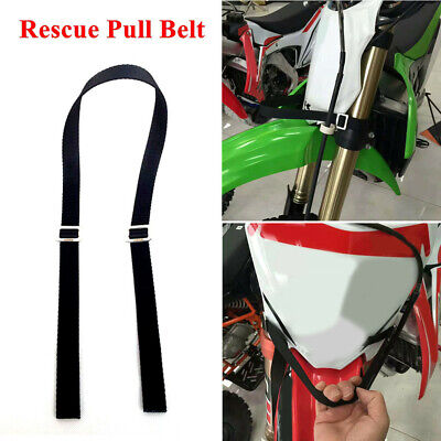Universal Motorcycle Dirt Bike Rescue Strap Pull Belt Tow Rope Tool Accessories