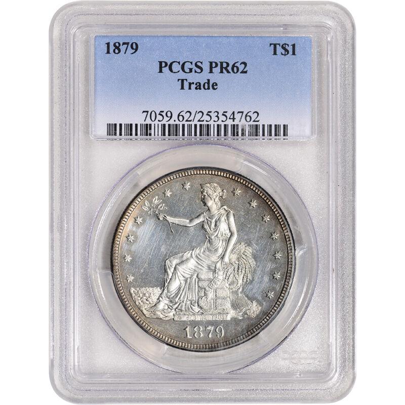 1879 US Silver Trade Dollar Proof T$1 - PCGS PR62