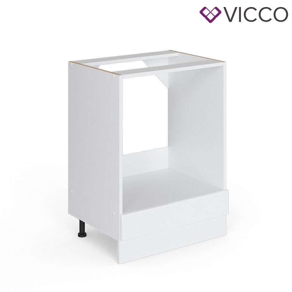 VICCO Küchenschrank Hängeschrank Unterschrank Küchenzeile R-Line Herdumbauschrank 60 cm weiß