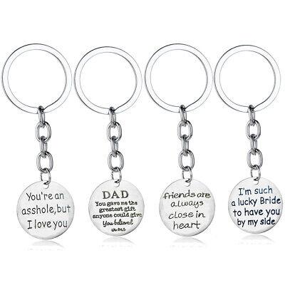 Dad Gifts Keyring Boyfriend Husband Best Friend Birthday Present Key Chains