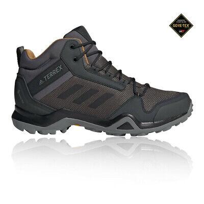 adidas Mens Terrex AX3 Mid GORE-TEX Walking Boots Grey Sports Outdoors