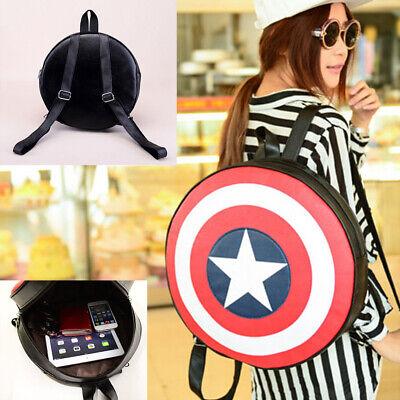 Unisex Avengers Captain America Shield Style Backpack Student Book School Bag - Captain America Purse