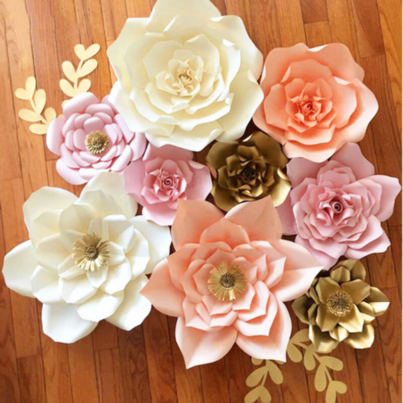 2030cm Diy Paper Flower Leaves Backdrop Decoration Birthday Party