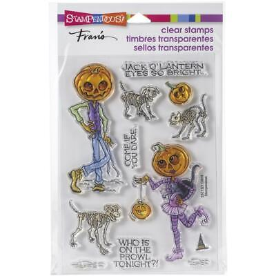 New Stampendous Rubber Stamp HALLOWEEN PUMPKIN PEOPLE free USA ship - Halloween People