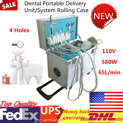 4 Holes Mobile Case Weak Wsuction Dental Delivery Unit System Air Compressor