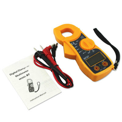 Home Universal Digital Multimeter Buzzer Clamp Auto Range Voltage Ampere Meter