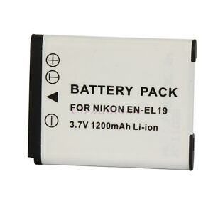 Battery for Nikon EN-EL19 Coolpix S4150 S4100 S3100 S2550 S2600 S2500 UK