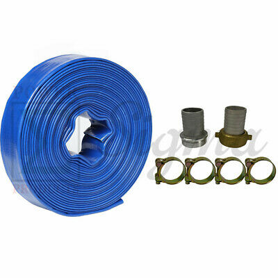 Sigma 1 X 50 Ft Pvc Lay Flat Agricultural Pump Discharge Hose Thread Camlock