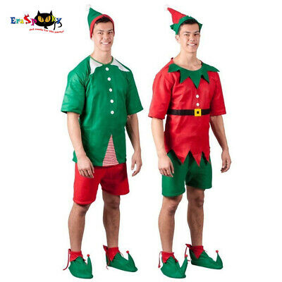 Elf Outfits For Adults (Christmas Elf Costume For Adult Mens Santa Claus Cosplay Carnival Party)