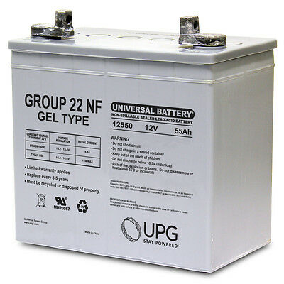 UPG UB12550 (Group 22NF) 12V 55AH GEL Wheelchair Battery
