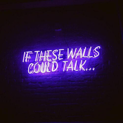 If These Walls Could Talk Neon Sign Acrylic Light Artwork Gift Bar With Dimmer
