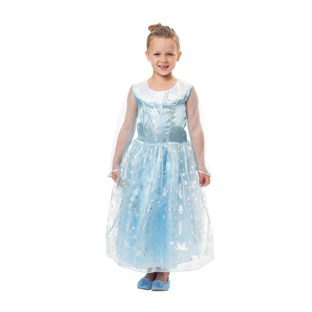 Girls Frozen Queen Elsa Anna Princess Dress Fancy Costume Ki
