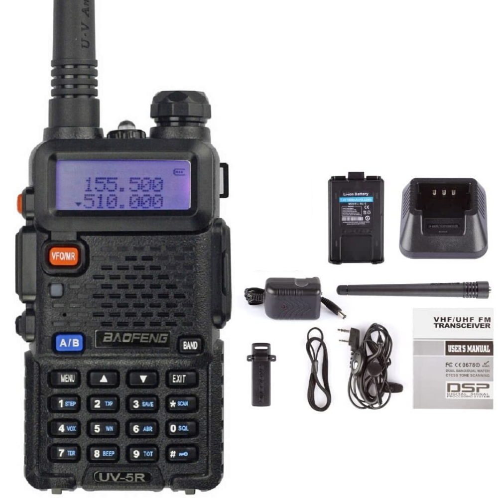 Radio Scanner Handheld Two Way Police Ham Transceiver Portab
