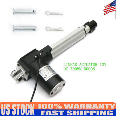 12 Stroke Linear Actuator 1320lbs Cylinder Lift Electric Dc Motor Stroke Length