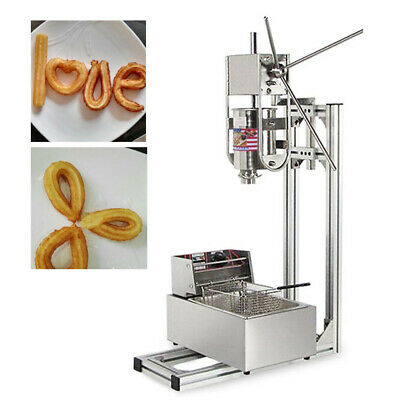 Vertical Manual 3l Stainless Steel Spainish Donut Making Machine W 6l Fryer Us