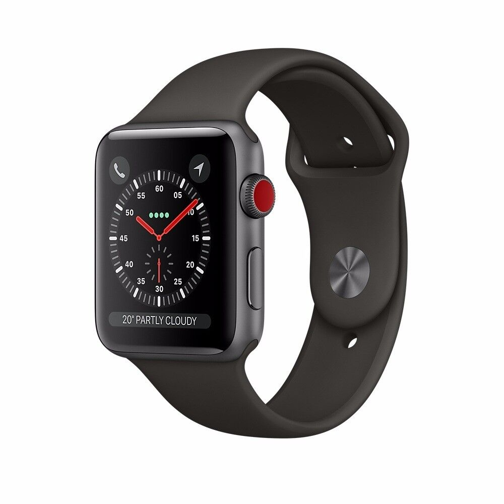 Brand New and Sealed Apple Watch Series 3 38mm Space Grey Aluminium Black Sports Band (GPS)