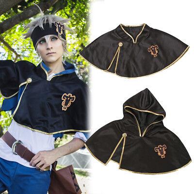 Anime Black Clover Asta Black Bull Hooded Short Cape Cloak Cosplay Costume Suit](Costume Cloaks)