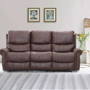 Recliner Sofa Set Reclining Couch Sofa Leather 3 Seater Home Theater Seating