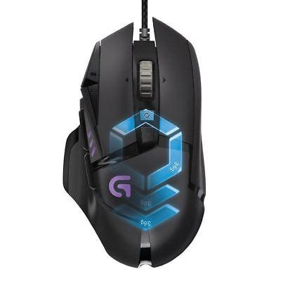 Logitech G502 Gaming Optical RGB Mouse Proteus Spectrum Tunable Customizable