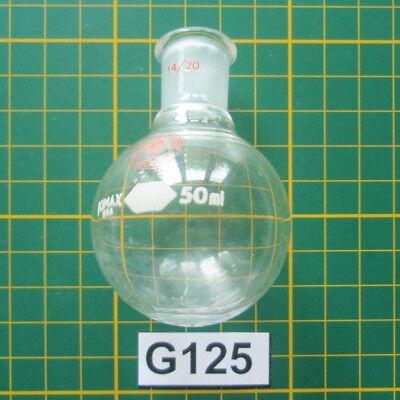 Micro Organic Lab Glass Lot G125 50ml Round Bottom Flask Ace 810