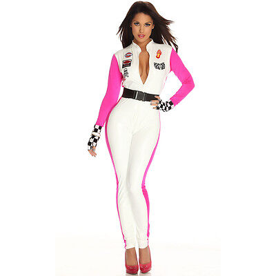 Racing Driver Halloween Costume (Top Totty Sexy Ladies Racing Driver Halloween)