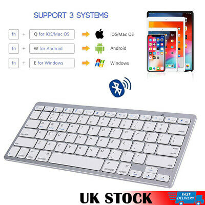 Slim Wireless Bluetooth 3.0 Keyboard  For Mac iPad IOS Android Apple Tablet PC