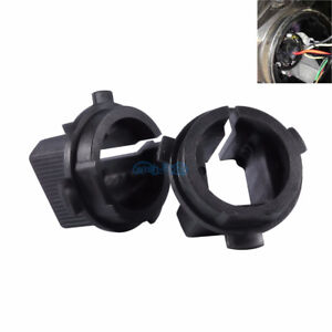 2x H7 HID Xenon Bulb Adapter Holder For Hyundai Veloster Genesis Coupe 2013 2014
