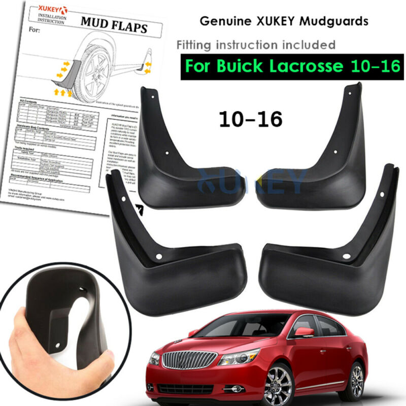 Molded Front Rear Mud Flaps Fit For Buick LaCrosse 10 16 Splash Guards Mudflap
