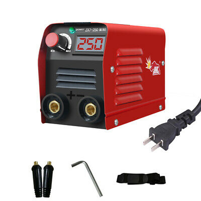110v 20-250a Portable Digital Welding Machine Igbt Inverter Arc Mma Stick Welder