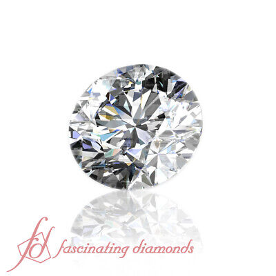 Natural Eye Clean Certified Loose Diamond For Sale-0.52 Carat Round Cut Diamond