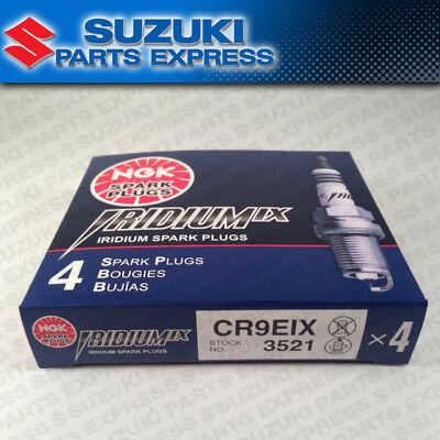 NGK CR9EIX IRIDIUM SPARK PLUGS (4) PACK SUZUKI GSXR GSX-R 600 750 1000 HAYABUSA