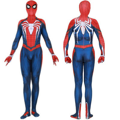 Spider-Man PS4 Insomniac Games Adult Kids Halloween Cosplay Bodysuit - Kids Spider Halloween Costume
