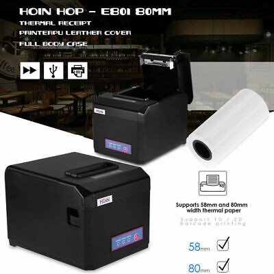 80mm Pos Thermal Printer Receipt Ticket Machine Usb Auto Cutter For Pos Hot F6n7