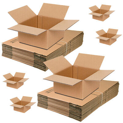 50 x Double Wall Cardboard Postal Packing Moving Removal Boxes 12x12x12 Inch