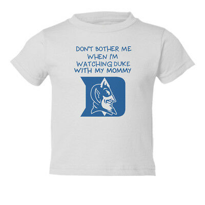 Blue Toddler T-shirt - Duke Blue Devils Watching With Mommy Basketball Kids Toddler T-Shirt