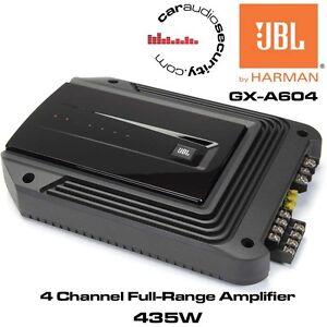 JBL GX-A604 - 4/3 Channel Car Amplifier Speaker and Subwoofer Amaplifer