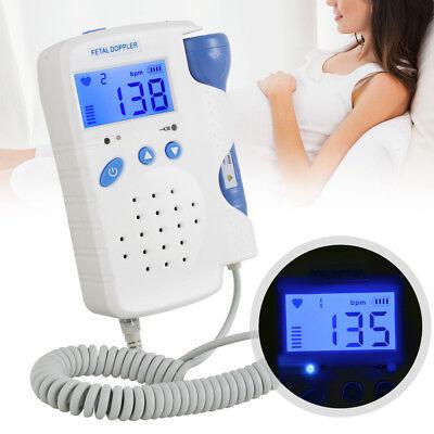 Lcd Pocket Prenatal Fetal Doppler Baby Heart Beat Monitor Pregnancy 3mhz Gel