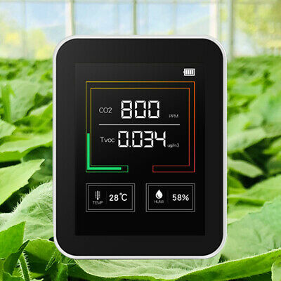 Carbon Dioxide Detector Co2 Temperature Humidity Tester Air Monitor Lcd Display