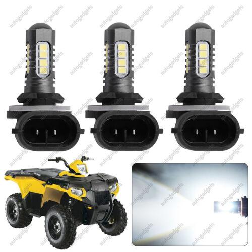 3x 270W LED Headlight Bulbs Fit Polaris Sportman High Power 6000K White XP850