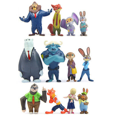 Zootopia Judy Nick Duke Bellwhether Hopps Wilde 12PCS Action Figure Kid Doll Toy