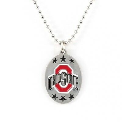 OHIO STATE BUCKEYES LARGE PENDANT NECKLACE 24237 new college sports jewelry