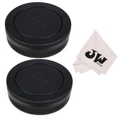 JJC 2-Pack Body Cap + Rear Lens Cap for Canon EOS-M EF-M Mount -