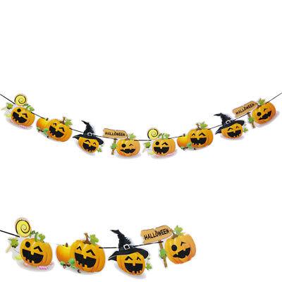 Halloween party mix kürbis hängen garland wimpel banner dekoration kinder